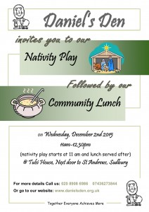 Nativity play and community lunch
